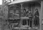 Constable Thomas Inger in his old age with his family and the new Port Albert printing press - Photo courtesy of Albertland Museum, Wellsford, New Zealand
