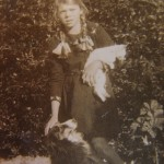 Yvonne and her dog, Tip circa 1929