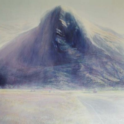 Faces In The Mountains, Athol( Remembering Hongi in his Cloak with Earle, 2006 - Oils on canvas. 1500 x 1200 cm. J. and L. Radford Collection, Whangarei