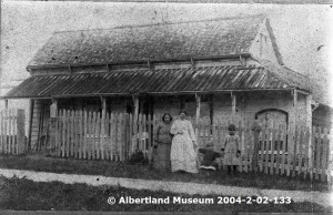 Inger homestea at Port Albert - Photo Courtesy of Albertland Museum, Wellsford, New Zealand