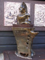 The Chestnut Roaster by Yvonne Rust - Canterbury Museum - gifted by Rosemary Perry