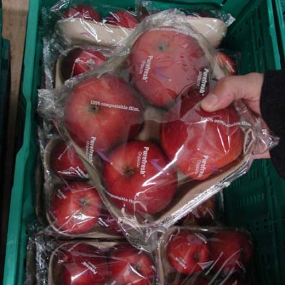 Purefresh compostable packing - apples